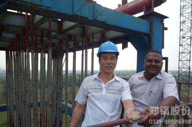 巴西35吨碳素窑余热锅炉
