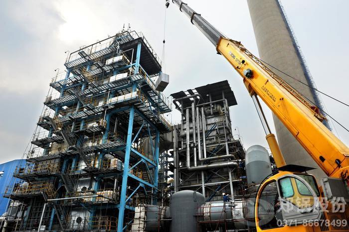 广东40吨管壳式余热锅炉项目