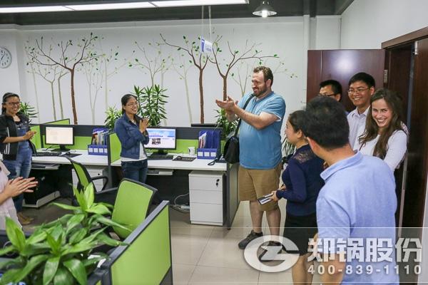 美国客户来访 郑锅股份对接美洲市场